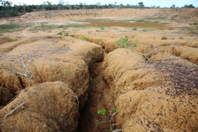 Dry earth through drought in Bangladesh
