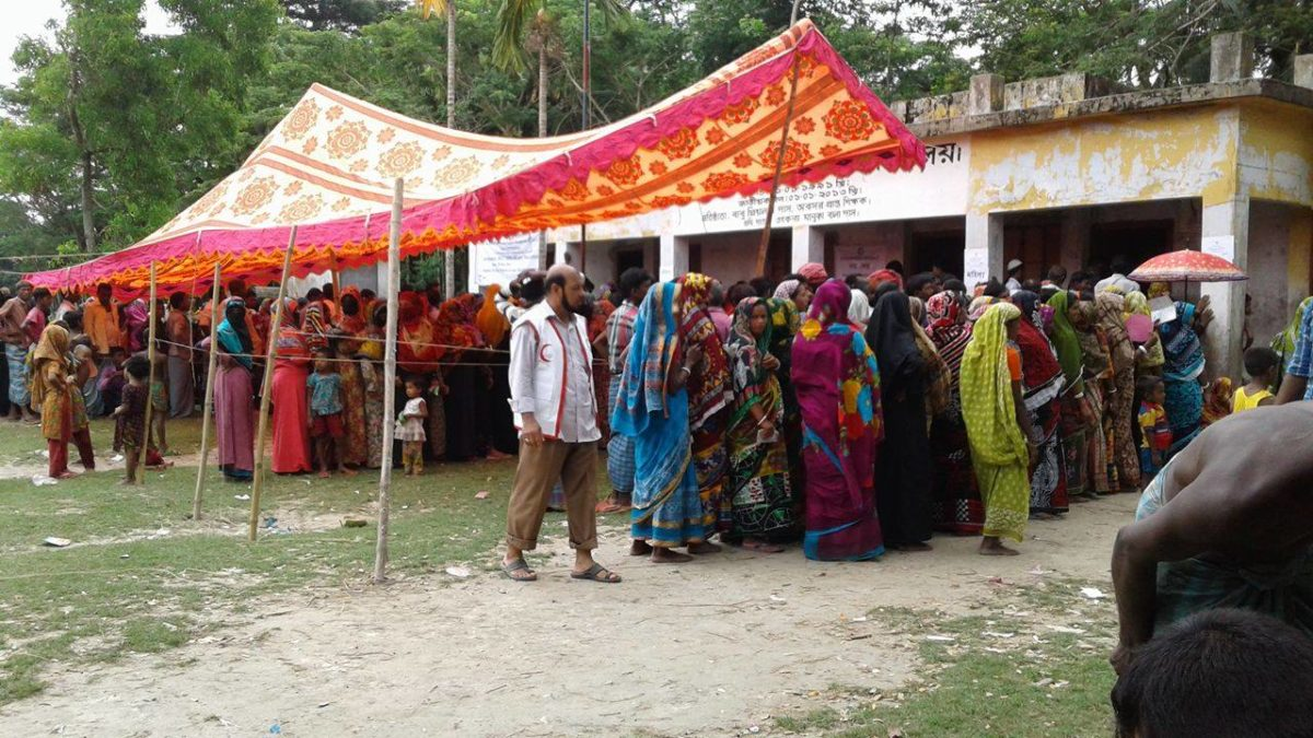 People receive help from natural disaster by DRK and IFRC in Bangladesh