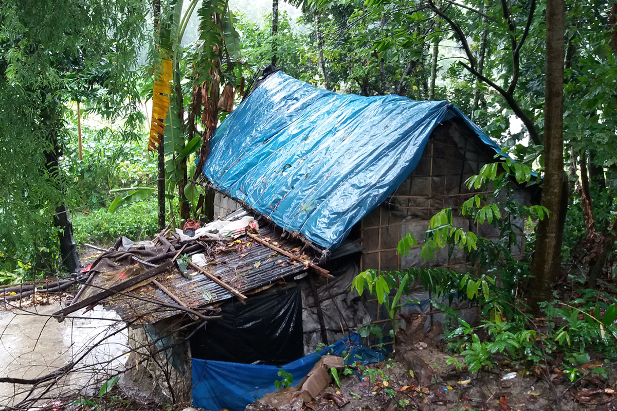 A flooding house in uganda