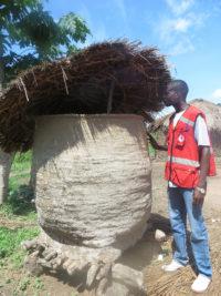 DRK helper views local village