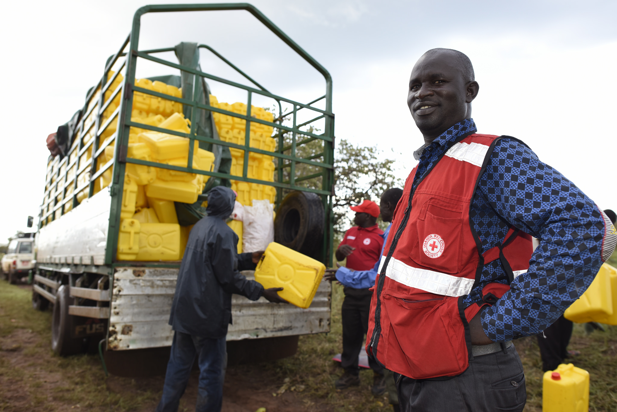 Red Cross helping people after natural disaster